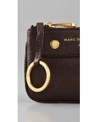 Marc By Marc Jacobs - Brown Preppy Leather Key Pouch - Lyst