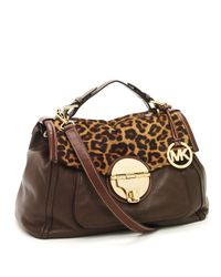 MICHAEL Michael Kors | Brown Margo Top-handle Tote, Leopard | Lyst