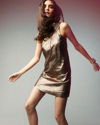 VINCE | Metallic-suede Dress | Lyst