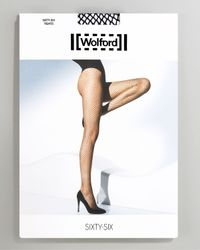 Wolford Black Sixty-six Fine Fishnet Tights