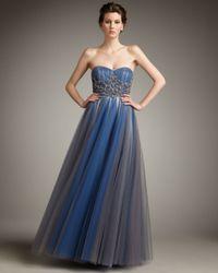 Alberto Makali | Blue Beaded-bodice Ballgown | Lyst