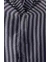 Elizabeth and James | Blue Paris Striped Silk-satin Blouse | Lyst