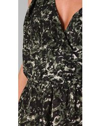 Joie - Green Amelie Floral Ossie Dress - Lyst