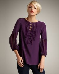 Nanette Lepore | Purple Ingenue Silk Blouse | Lyst
