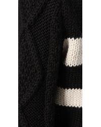 Pencey | Black Striped Crew | Lyst