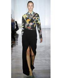 Preen By Thornton Bregazzi | Black Long Slice Skirt | Lyst
