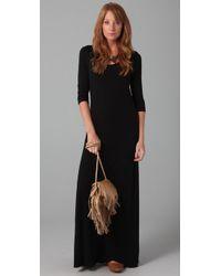 Splendid | Black Maxi Dress | Lyst