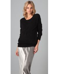 T By Alexander Wang | Black Crew Neck Pullover | Lyst