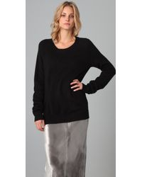 T By Alexander Wang - Black Crew Neck Pullover - Lyst