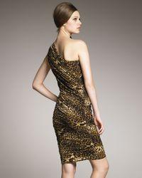 Tadashi Shoji - Multicolor One-shoulder Animal-print Dress - Lyst