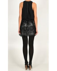 Tibi - Black Imperial Lace Skirt - Lyst