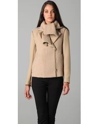 3.1 Phillip Lim | Natural Scarf Collar Coat with Removable Sleeves | Lyst