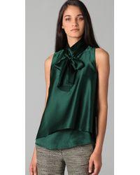 3.1 Phillip Lim - Green Layered Hem Silk Top - Lyst