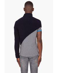 Acne Studios   Blue Normandie Mono Crop Off Turtleneck Sweater for Men   Lyst
