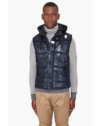 G-Star RAW | Blue Belton Hooded Vest for Men | Lyst