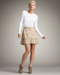Joie - Natural Frances Leather Miniskirt - Lyst