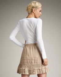 Joie Natural Frances Leather Miniskirt