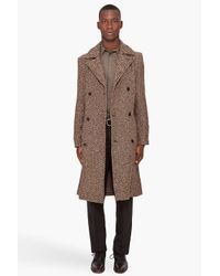Marc By Marc Jacobs | Brown Avalon Herringbone Coat for Men | Lyst