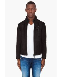 Robert Geller | Black Nubuck Rider Jacket for Men | Lyst