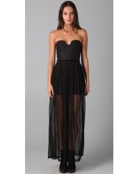 Shakuhachi | Black Dont Mesh with Me Maxi Dress | Lyst