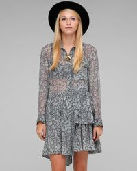 Shakuhachi | Gray Python Tiered Shirt Dress | Lyst