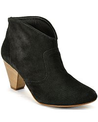 Steven by Steve Madden | Pembrook - Black Suede Ankle Bootie | Lyst