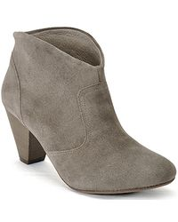 Steven by Steve Madden | Brown Pembrook - Taupe Suede Ankle Bootie | Lyst