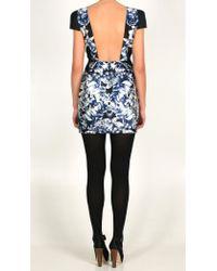 Tibi - Black Rococo Print Silk Twill Cap Sleeve Dress - Lyst