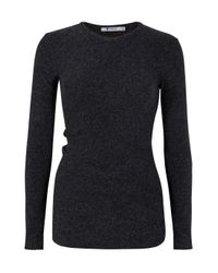 T By Alexander Wang   Gray Twistback Or Front Ls T   Lyst