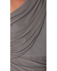Alice + Olivia | Gray One Shoulder Drape Dress | Lyst