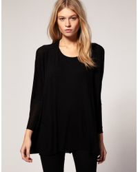ASOS - Black Loose Drape Long Sleeve Top - Lyst