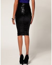 ASOS Collection - Blue Asos Pencil Skirt in Sequins - Lyst