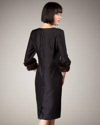 Bigio Collection | Black Mink-cuff Dress | Lyst