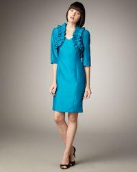 Bigio Collection | Blue Ruffled Bolero & Sleeveless Dress | Lyst