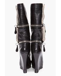 Camilla Skovgaard - Black Zip Wedge Shearling Boots - Lyst