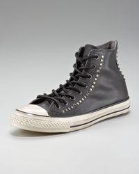 Converse Black Studded Leather Hi-top for men