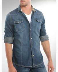 Guess | Blue Romo Shirting Denim Shirt for Men | Lyst