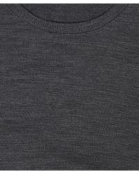 John Smedley - Gray Charcoal Long Sleeve Hunter Jumper for Men - Lyst