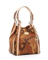 MICHAEL Michael Kors | Brown Grayson Large Grab Bag, Camo Luggage | Lyst