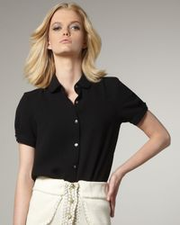 Opening Ceremony | Black Short-sleeve Blouse | Lyst