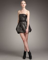Rachel Zoe | Metallic Blair Strapless Bubble Dress | Lyst