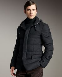 Ralph Lauren Black Label Black Hooded Puffer Coat for men