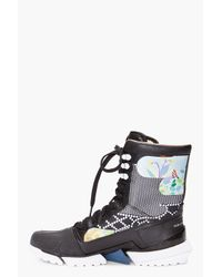 Y-3 - Black Warrior High Boots for Men - Lyst