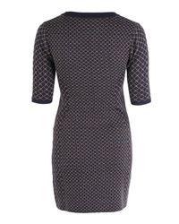 Acne Studios Blue Dorah Jacquard Jumper Dress