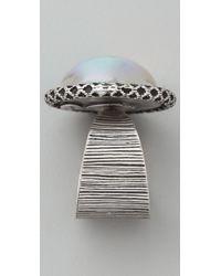 ALEX AND ANI - Metallic Lovestoned Romance Cocktail Ring - Lyst