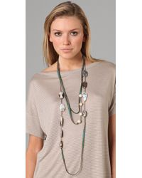 Alexis Bittar - Metallic Tapestry Opal & Flower Fossil Necklace - Lyst