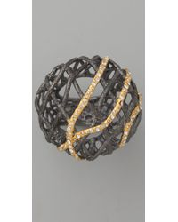 Alexis Bittar - Metallic Woven Dome Ring - Lyst
