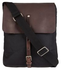 Ally Capellino - Gray Waxed Cotton Ivan Messenger Bag for Men - Lyst
