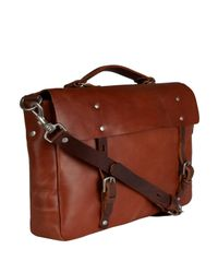Ally Capellino Brown Leather Richard Satchel for men