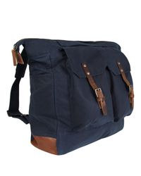 Ally Capellino Blue Navy Frank Wax Rucksack for men